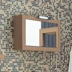 Adatto Casa Light Oak 700mm Mirrored Cabinet
