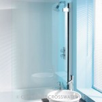 Simpsons Classic Hinged Bath Screen Silver