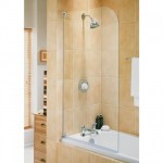 Aqualux 750mm Euro Half Frame Radius Bath Screen