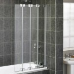 Aqualux 850mm AQUA 6 4-Fold Bath Screen