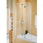 Aqualux 750mm AQUA 3 Half Frame Radius Bath Screen