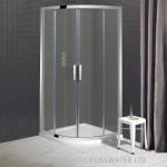 Simpsons Elite Quadrant Shower Enclosure with Double Door Polished Chrome 1000mm