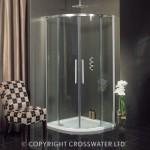 Simpsons Ten Quadrant Shower Enclosure with Double Door 1000mm