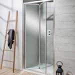 Simpsons Edge Bifold Shower Door Silver 760mm