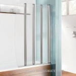Simpsons Edge Foldaway Bath Screen Silver