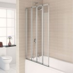 Aqualux 840mm AQUA 4 4-Fold Bath Screen