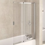 Aqualux 820mm AQUA 4 2-Panel Slider Bath Screen