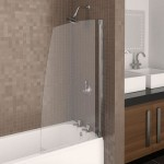 Aqualux 750mm AQUA 4 Sail Bath Screen