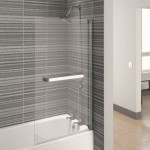 Aqualux 750mm AQUA 4 Square Bath Screen