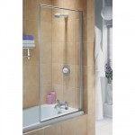 Aqualux 750mm Euro Framed Bath Screen White