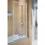 Aqualux 750mm Euro Framed Bath Screen Silver Frame