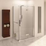 Aqualux 1200mm x 760mm AQUA 8 Hinge Pivot Shower Door and Side Panel