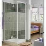 Aqualux 760mm AQUA 3 Pivot Shower Door & Side Panel
