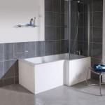 Ultra Cove Right Hand 1700mm Square Shower Bath