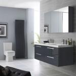 Hudson Reed Quartet 1440mm High Gloss Grey Furniture Pack