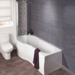 Milano Form 1700mm Showerbath LH with Front Panel & Screen