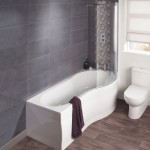 Milano Form 1700mm Showerbath RH with Front Panel & Screen