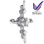 Old London Traditional Exposed Thermostatic Triple Shower Valve