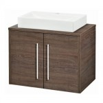 Hudson Reed 600mm Mid Sawn Oak Worktop & Double Door Cabinet
