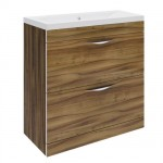 Hudson Reed 800mm Gloss Walnut Floor-standing Unit & Choice of Basin