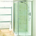 Simpsons Edge Offset Quadrant Shower Enclosure with Double Door 1200 x 800mm