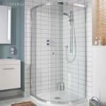 Simpsons Edge Offset Quadrant Shower Enclosure with Single Door 1200 x 800mm