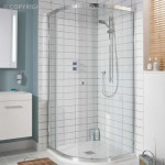 Simpsons Edge Offset Quadrant Shower Enclosure with Single Door 1200 x 900mm