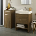 Hudson Reed Dunbar Textured Oak Furniture Pack