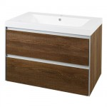Hudson Reed Erin Textured Oak Basin & Cabinet 800mm