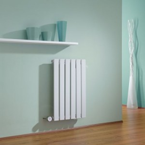 outlet store 2d809 5aafe Milano Alpha – White Horizontal Single Slim Panel Electric ...