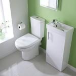 Milano White Minimalist Floor Standing Cloakroom Suite