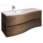 Bauhaus Svelte 1200mm Vanity Unit & Mineral Marble Basin American Walnut